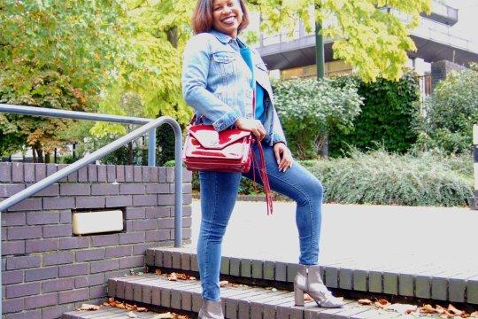 casual autumn saturday- JustFab handbag
