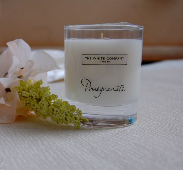 autumn scents- pomegranate candle, The White Company