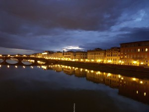 picture postcards from Florence - bridge overlooking water