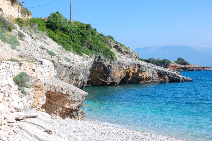 picture postcards from zante- caves