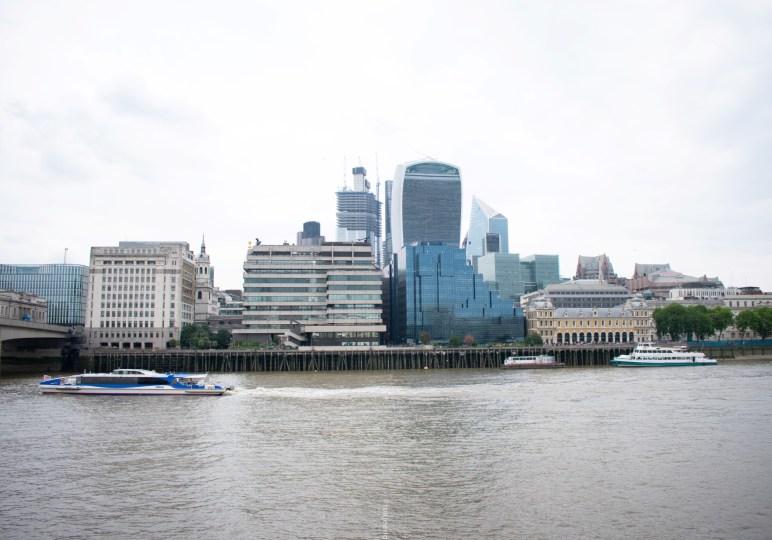 exploring london bridge challenge- riverside view
