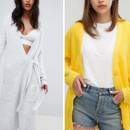 what I want to wear for autumn 2018- Asos cardigans
