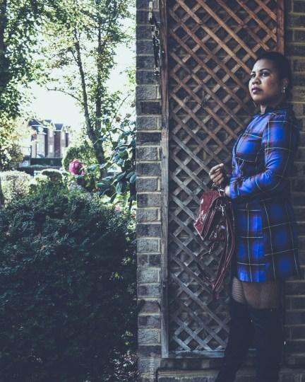 how to styl a dress two ways- tartan dress