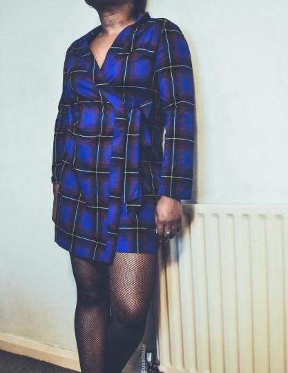 how to style a dress two ways- tartan wrap dress