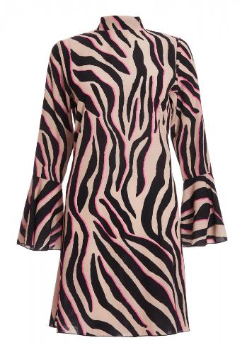 spring dresses under £35 by quiz clothing- zebra print shift dress