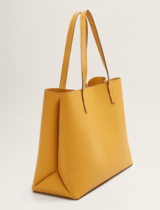 spring edit mango essential range- shopper bag in mustard