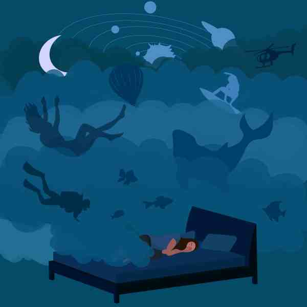 Lucid,Dreaming,Vector,Illustration.,Awaken,In,A,Dream.,The,Situations