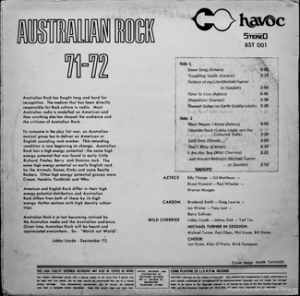 Havoc - Australian Rock 71-72 - BST001 - Back cover
