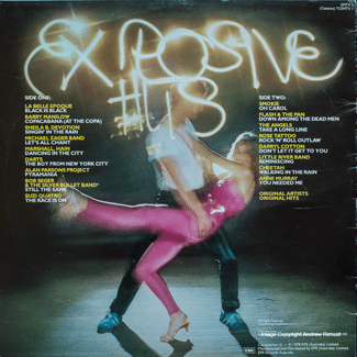 Explosive Hits '78 - back cover