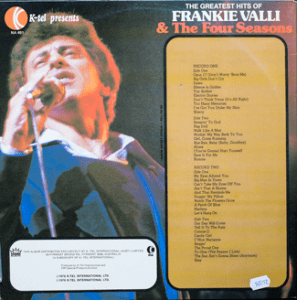 Ktel - Frankie Valli - NA491 - Back cover