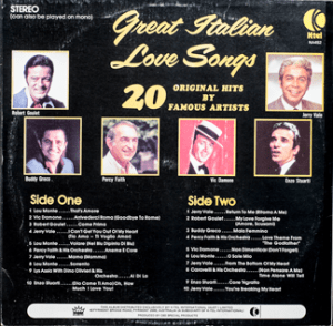 Ktel - Great Italian Love SOngs - NA452 - Back cover