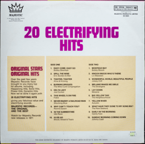 Majestic - Electrifying Hits - EH820 - Back cover