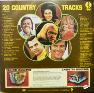 Ktel - Country Tracks - WA344 - Back cover