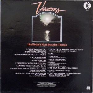 K-tel - NA627 - Visions - Back cover