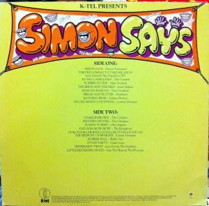 K-tel - NA663 - Simon Says - Simon Townsend - Back cover