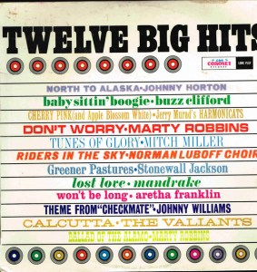 CBS - Twelve Big Hits - KLL 1662 - Front Cover - temp