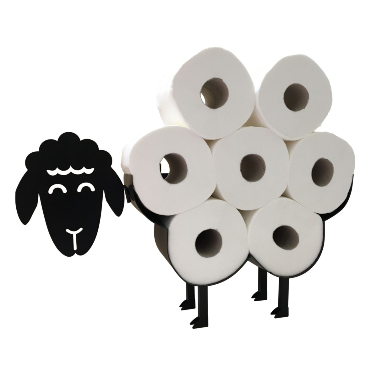 Cute Black Sheep Toilet Paper Roll Holder Free Standing