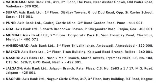 Axis Bank Recruitment Interview Venue