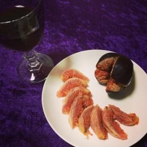 いちじくと赤ワイン