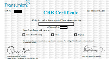 Free CRB Certificate application