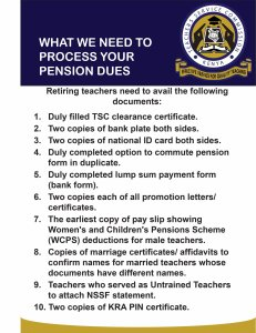 Pension processing requirements for teachers