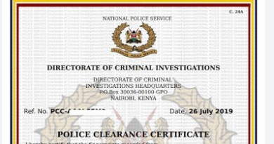 How to apply for a certificate of good conduct in Kenya