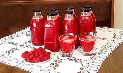 sok od malina bez šećera