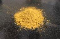 Ochre yellow, an earth color.
