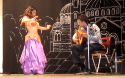 Majnuun performing Oud and belly dance at Bulgarian Festival, Vancouver