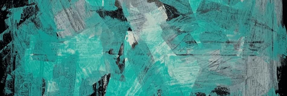 ACQUA por María José Cano, técnica mixta | majocano.com Expresionismo Abstracto pintura artística