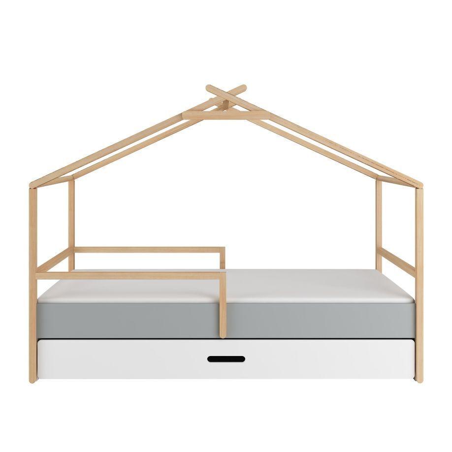 lit cabane enfant avec barriere cherokee majoliechambre