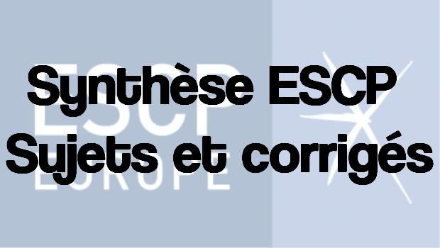 Synthèse ESCP