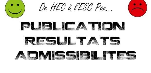 Dates et liens des résultats d'admissibilités 2015