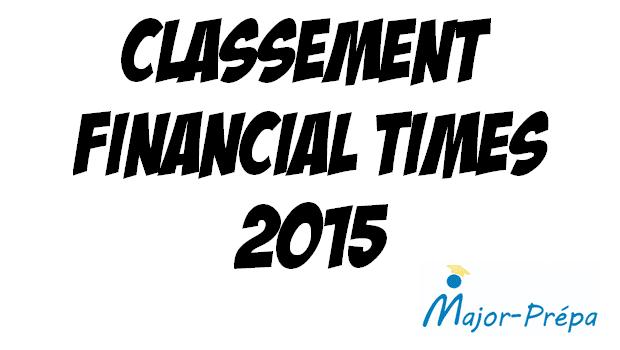 Classement FT 2015 des Master in Management : la France au top !