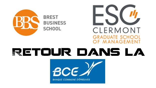 Brest Business School et l'ESC Clermont réintègrent la BCE !