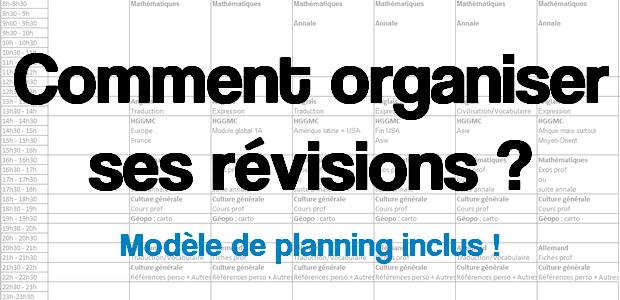 Comment organiser ses révisions ?