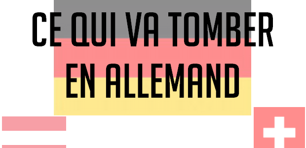 Les sujets probables en allemand aux concours
