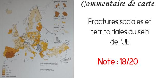 Commentaire de carte Ecricome – Fractures sociales et territoriales au sein de l'UE