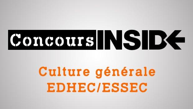 Préparer l'épreuve de culture générale EDHEC-ESSEC 2018