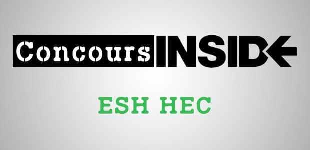 ESH HEC 2017 – Analyse du sujet