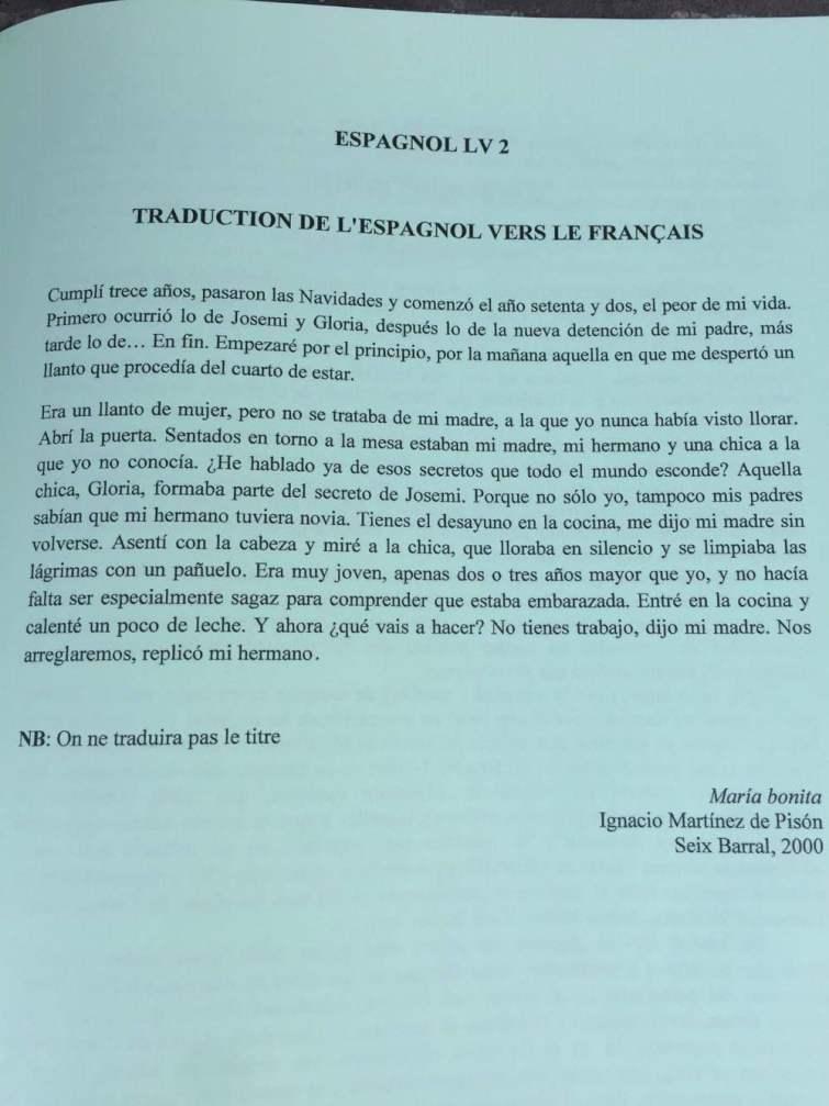 Sujet Espagnol LV2 CCIR 2016 - Page 2