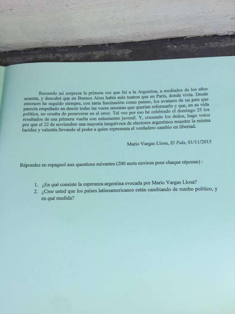 Sujet Espagnol LV2 CCIR 2016 - Page 4
