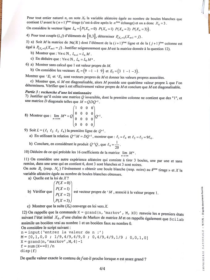 ujet Maths EDHEC 2016 S - Page 4
