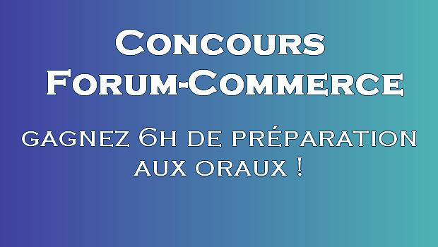Concours de lancement de Forum-Commerce.com