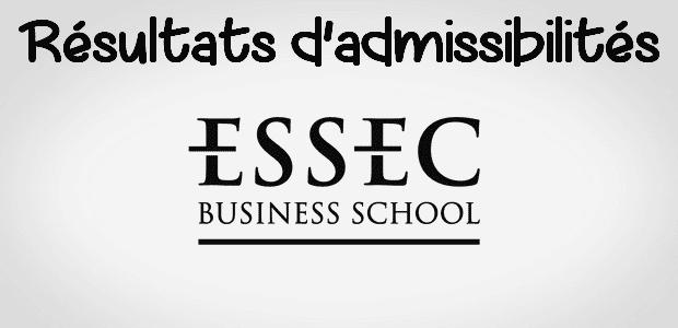 Résultats d'admissibilités ESSEC 2018