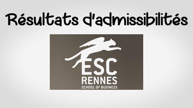 Résultats admissibilités ESC Rennes 2016