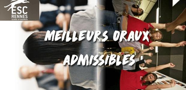 Vote Rennes School of Business – Concours des meilleurs oraux admissibles 2018