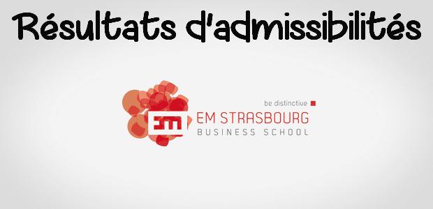 Résultats d'admissibilités EM Strasbourg 2018