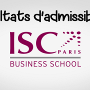 Résultats d'admissibilités ISC Paris 2018