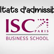 Résultats d'admissibilités ISC Paris 2019